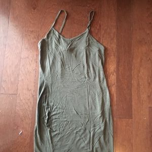 Pretty little thing green tank top dress size 10